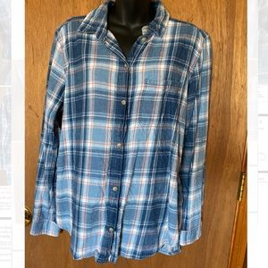 American Eagle Blue Flannel Shirt